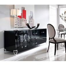 Aparador Moderno Laca Negra-cronos Ambar-muebles