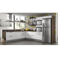 Cozinha Itatiaia Gourmet – Porta Branco Matte, Nogal Terra Costa C Tampo
