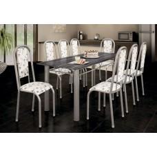 Mesa Unieme 8 Cadeiras Bianca 6 Cad